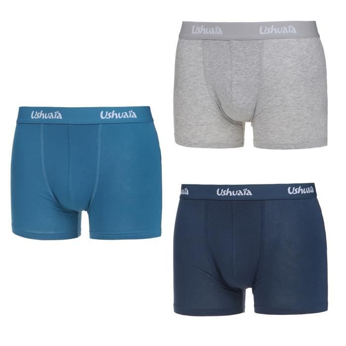 Lot de 3 Degradé de Homme Boxers USHUAIA Bleu uJl3Kc5TF1